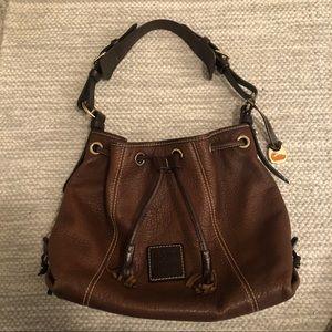 Authentic Dooney & Bourke Brown Bucket Bag Tote